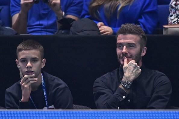 Romeo and David Beckham in the house at the #ATPFinals [getty]