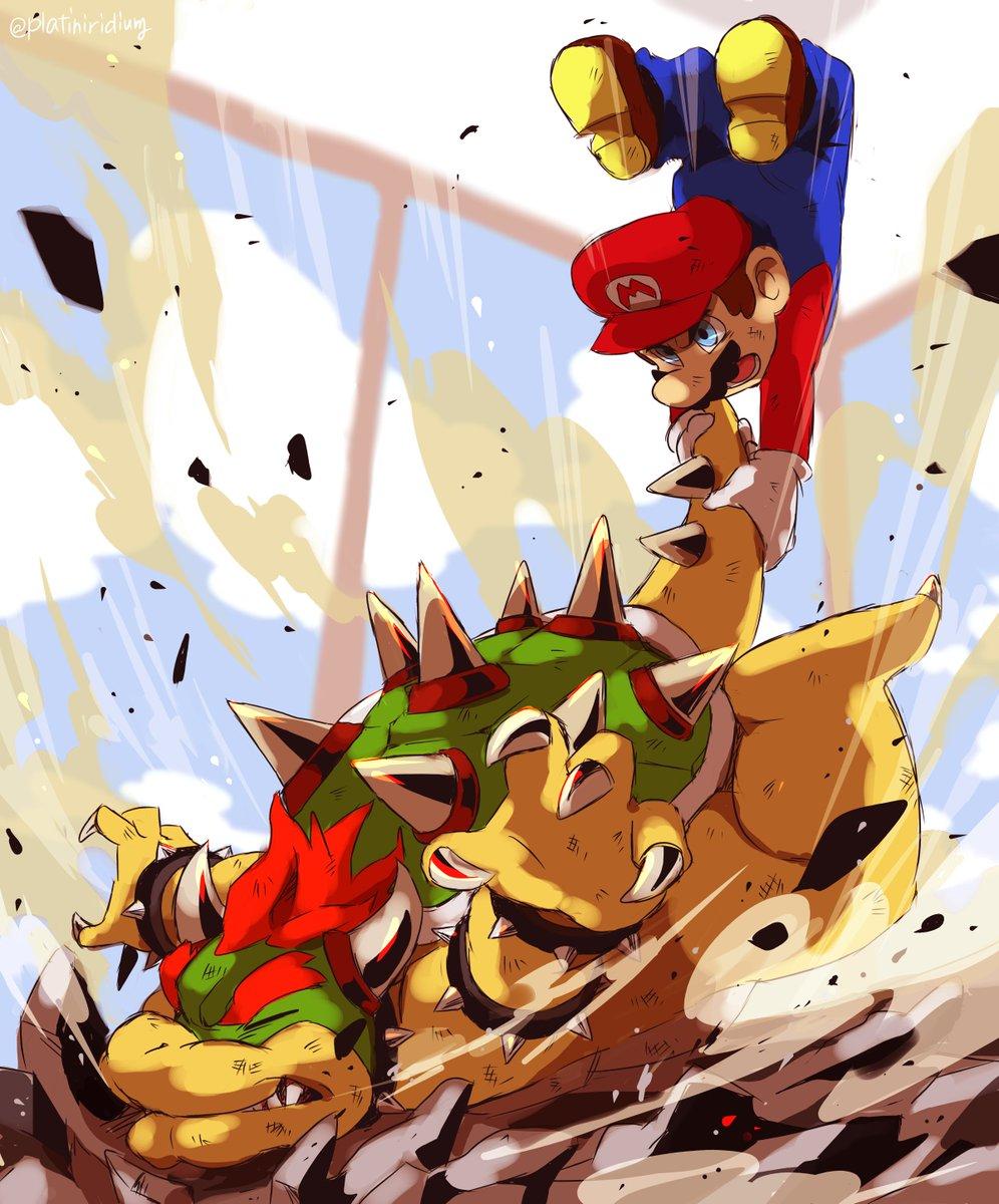 【ファンアート】「Castle Crashers」のこのワンシーンが大好きです…クッパ様との戦闘は推すのも押されるのも一部始終がカッコイイ!!!?