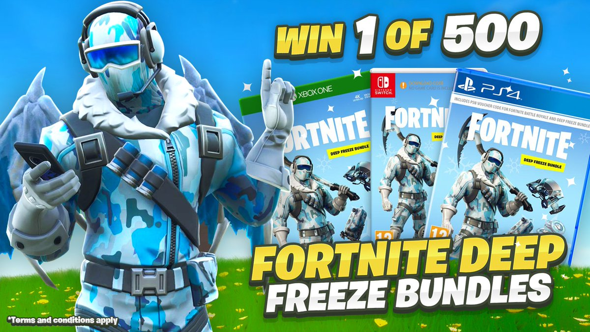 """❄500 Deep Freeze Bundles to be Won ❄ The 2nd Code """"Lachy"""" Support-A-Creator Backed Giveaway!  Enter Here ➡ https://gleam.io/RuV24/lachlans-exclusive-skin-giveaway…"""