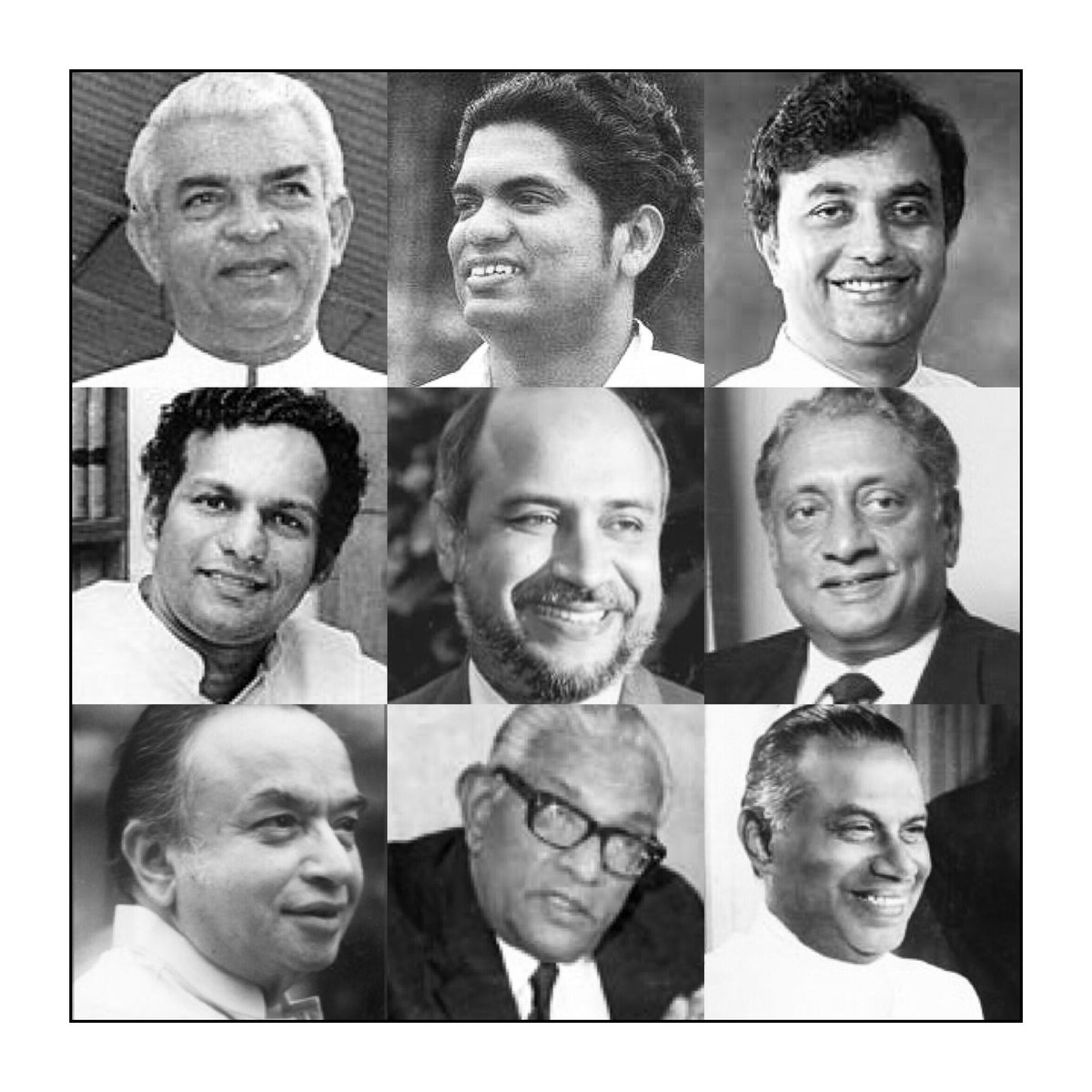 There WAS a time...where one could look upon the Members in the House of Parliament and...BE INSPIRED! Here are just some of those great men. Visionaries. There were many more. #Parliament #Statesmen  #Inspired #lka #ConstiutionalCrisis