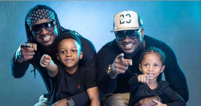 Peter Okoye\s wife wishes him and brother Paul a happy birthday