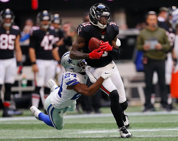 After going Weeks 1, 2, 3, 4, 5, 6 and 7 without at TD.. Julio Jones now has TDs in weeks 8, 9 and 10