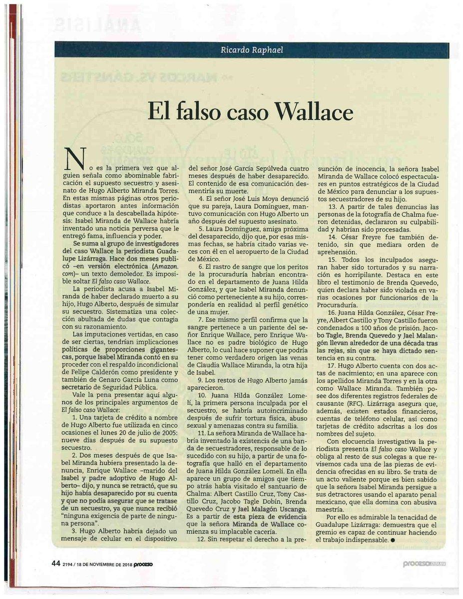 ... secuestro y homicidio de su hijo: El falso caso Wallace por Ricardo  Raphael ¿Alto al secuestro? ¡No! Alto al uso de la instituciones de  justicia para el ...