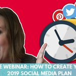 [WEBINAR] It's time to get your 2019 social media plan together. Join us for our all-new free webinar on Tuesday and we'll show you how! https://t.co/fDceiJI0Wj Can't make it live on Tuesday? Be sure to register to receive your copy of the replay!