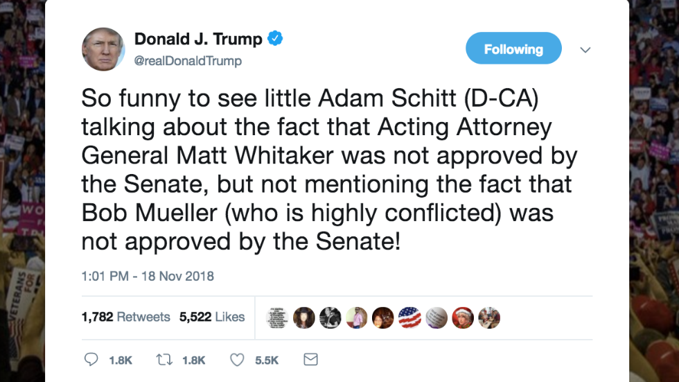 Trump calls Schiff 'little Adam Schitt' in tweet https://t.co/S71nvXa7gi
