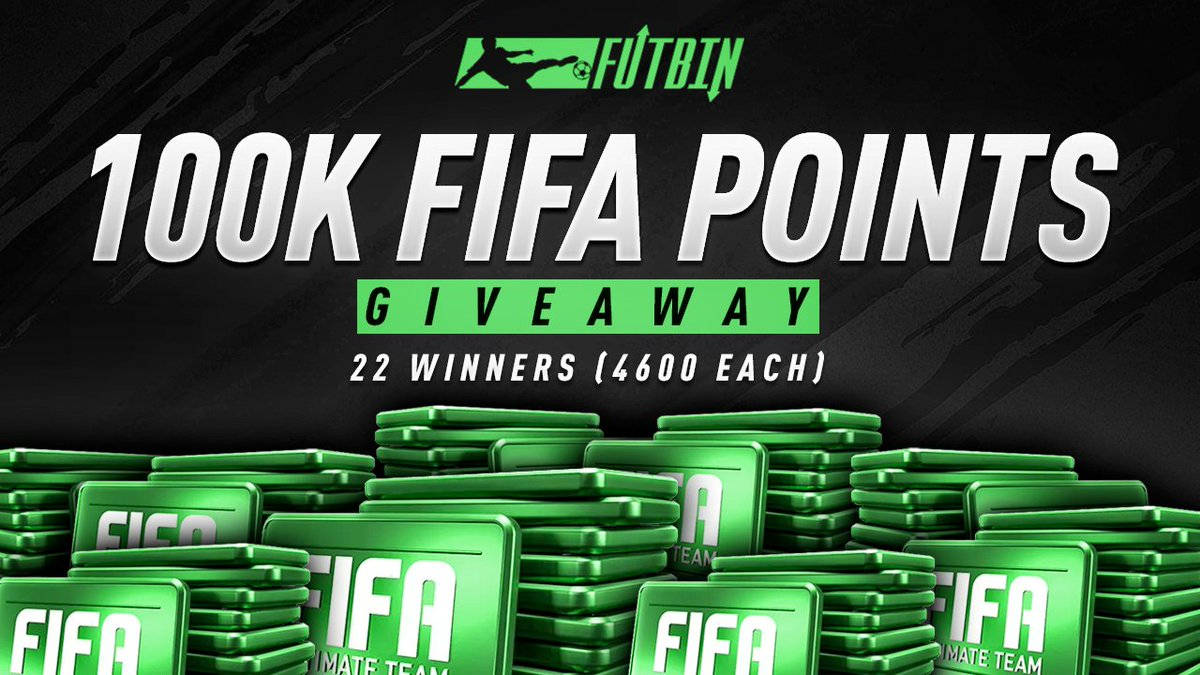FUTBIN Black Friday #FIFA19 #Giveaway: 22 x 4600 FIFA Points for PS4/XONE/PC RT+FOLLOW TO ENTER.  Winners will be drawn on BF - November 23rd!