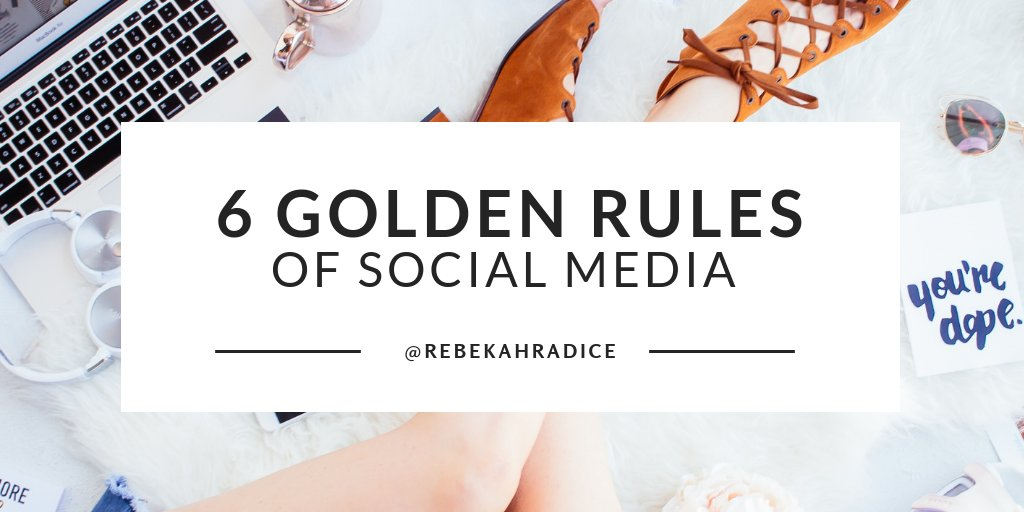 6 Golden Rules of #SocialMedia 1. Listen 2. Tell Your Story 3. Be Consistent 4. Stay Focused 5. Create an Experience 6. Be Social Learn more: bit.ly/2hBvytf #digitalmarketing #smm