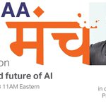 """BITMAA-NA presents the second episode of मंच 2018 by Gurdeep Pall, Corporate Vice President, Microsoft Corporation, Business AI he will be talking on """"The rise and future of AI"""". Gurdeep is Wharton Executive Business Diploma and a Birla Institute of Technology, Mesra 1983 -1987!"""