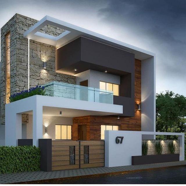 "Modern Zen House Design: DAR SALWA™️ تصميم ديكور En Twitter: ""أفكار واجهات مودرن"