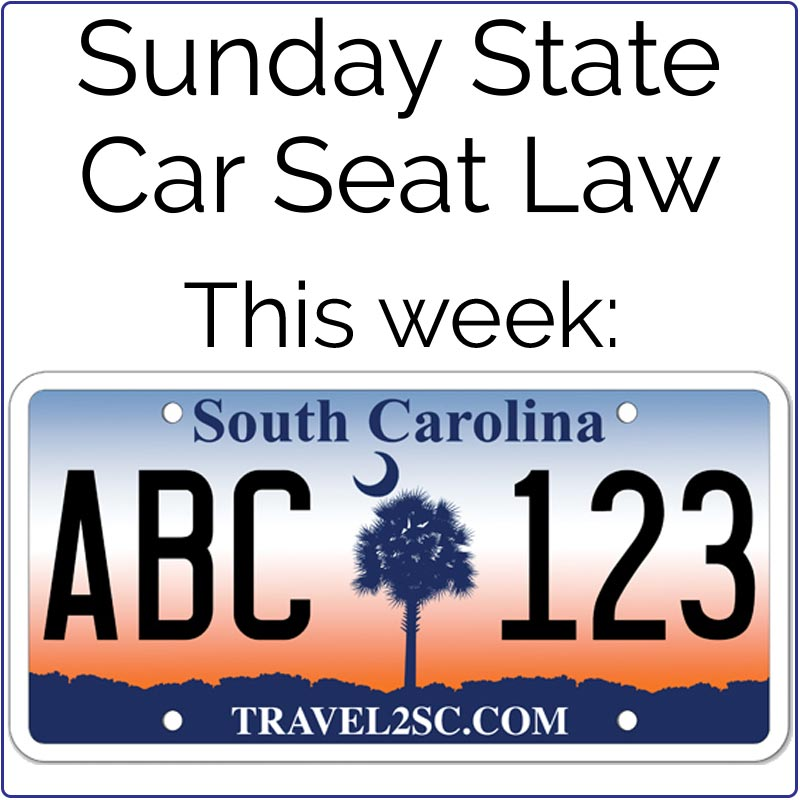 Sunday StateCarSeatLaw SOUTHCAROLINA Children From Birth To 2 Years Old Must Be Secured