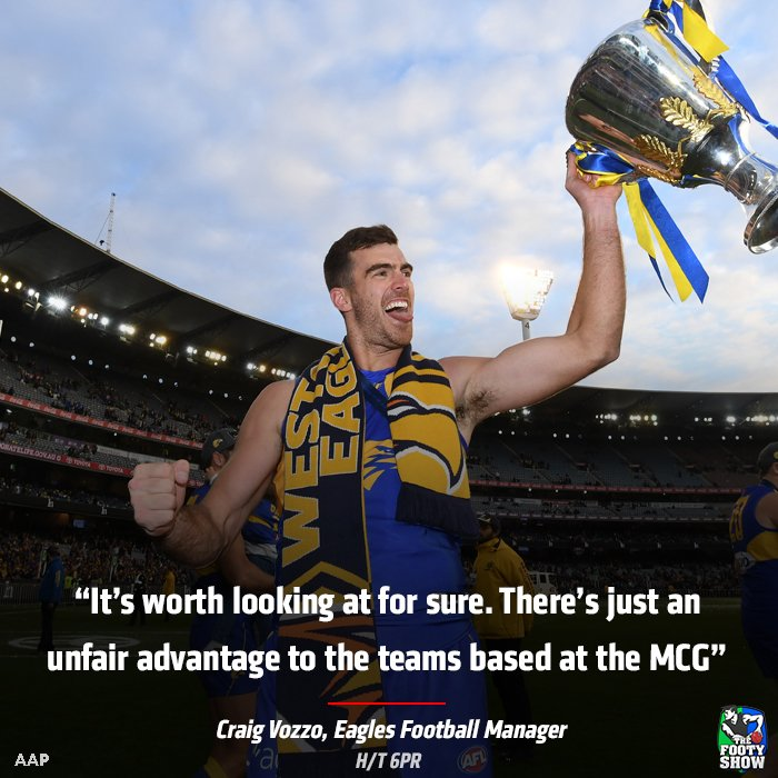 West Coast Eagles Football Manager Craig Vozzo throws support behind a three-game finals series. Do you agree with him? #AFLFootyShow #AFL https://t.co/Gy5TCNsD7p