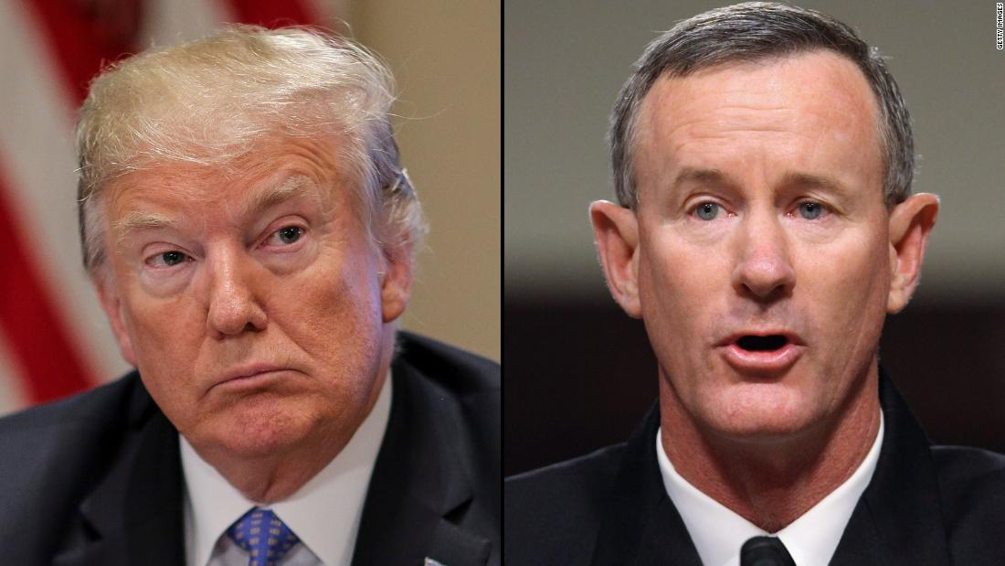 President Trump dismisses retired Adm. William McRaven, the overseer of the operation that killed Osama bin Laden, as a 'Hillary Clinton backer' and criticizes the military for having not killed bin Laden sooner https://t.co/TYX7NRJcM6