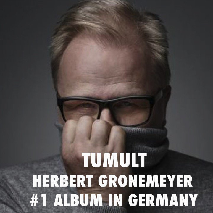 Pop/Rock Legend #HerbertGrönemeyer tops the German Album chart with his brand new Album #Tumult!👏👨🎤1⃣💿🇩🇪🔥👑 https://t.co/Fu70VVg48r
