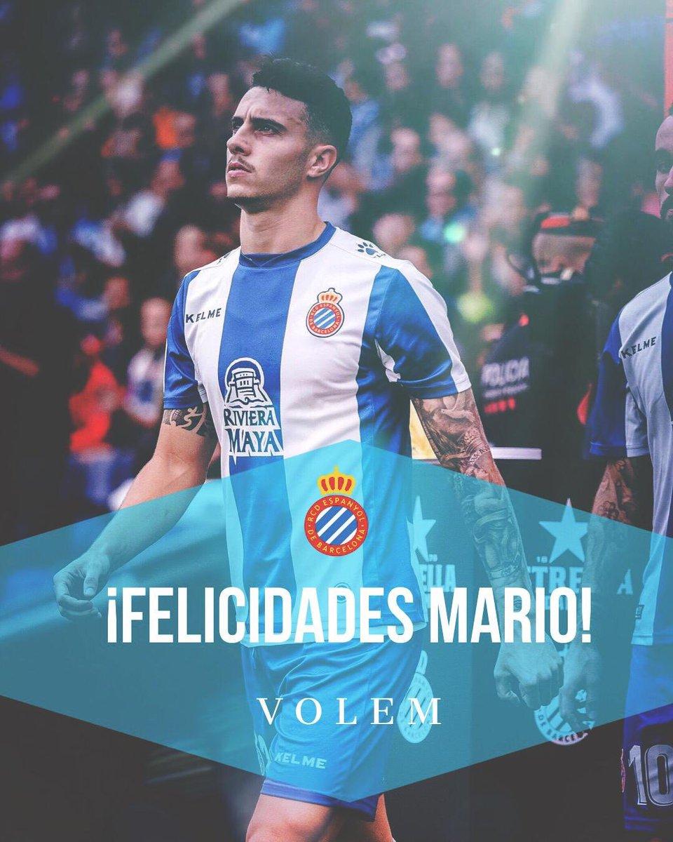 Mario Hermoso debuta amb la @sefutbol!   ¡Enhorabuena, @mariohermoso5! ¡Muy felices por ti! 👏👏👏   #RCDE | #Volem