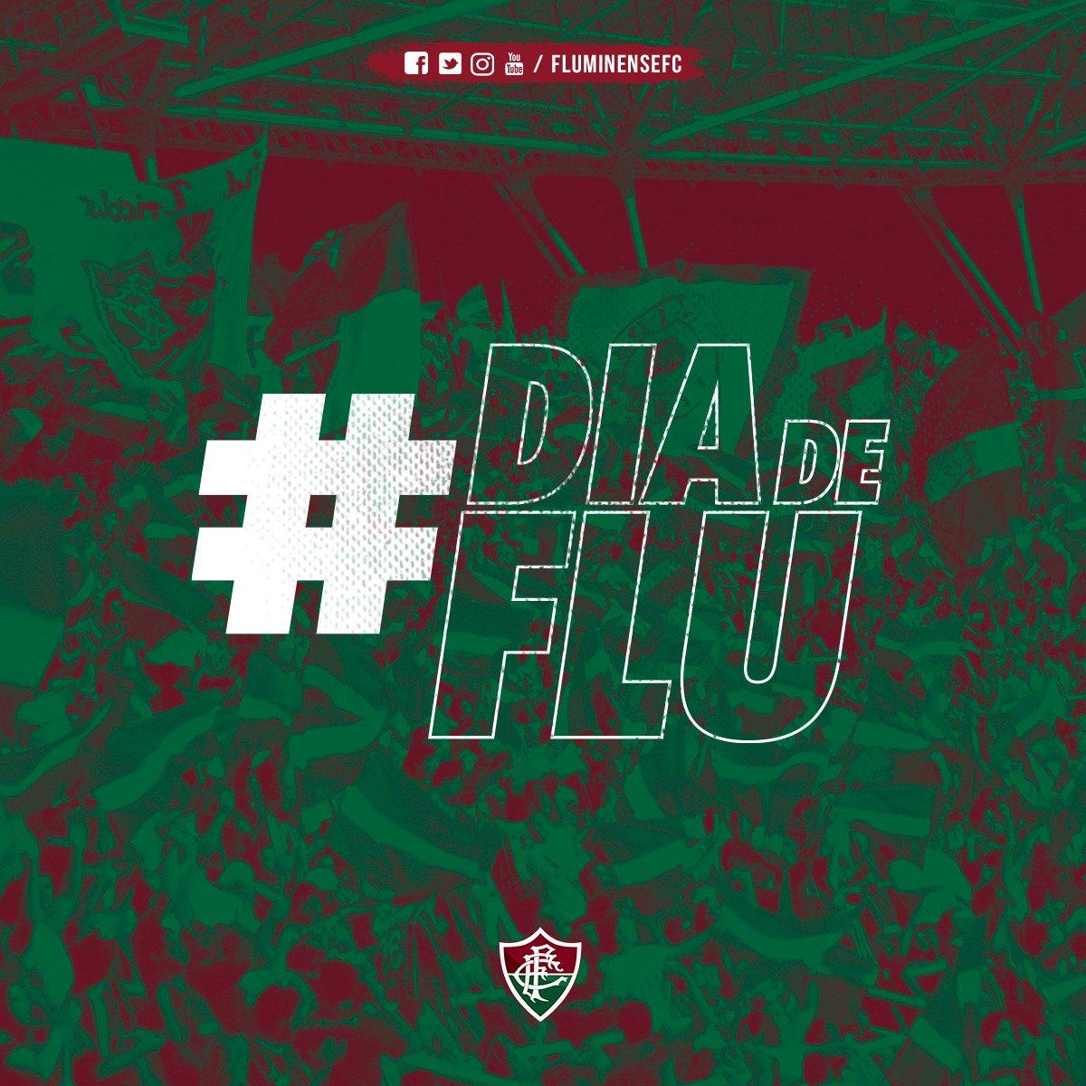 Hoje é #DiaDeFlu e nada mais importa. Contamos com o seu apoio nas arquibancadas. Vista sua armadura e torça até o fim pelo Tricolor em mais um jogo importante no Brasileirão!