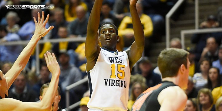 Lamont West leads WVU with 22 points on 6-of-8 from 3-point range.