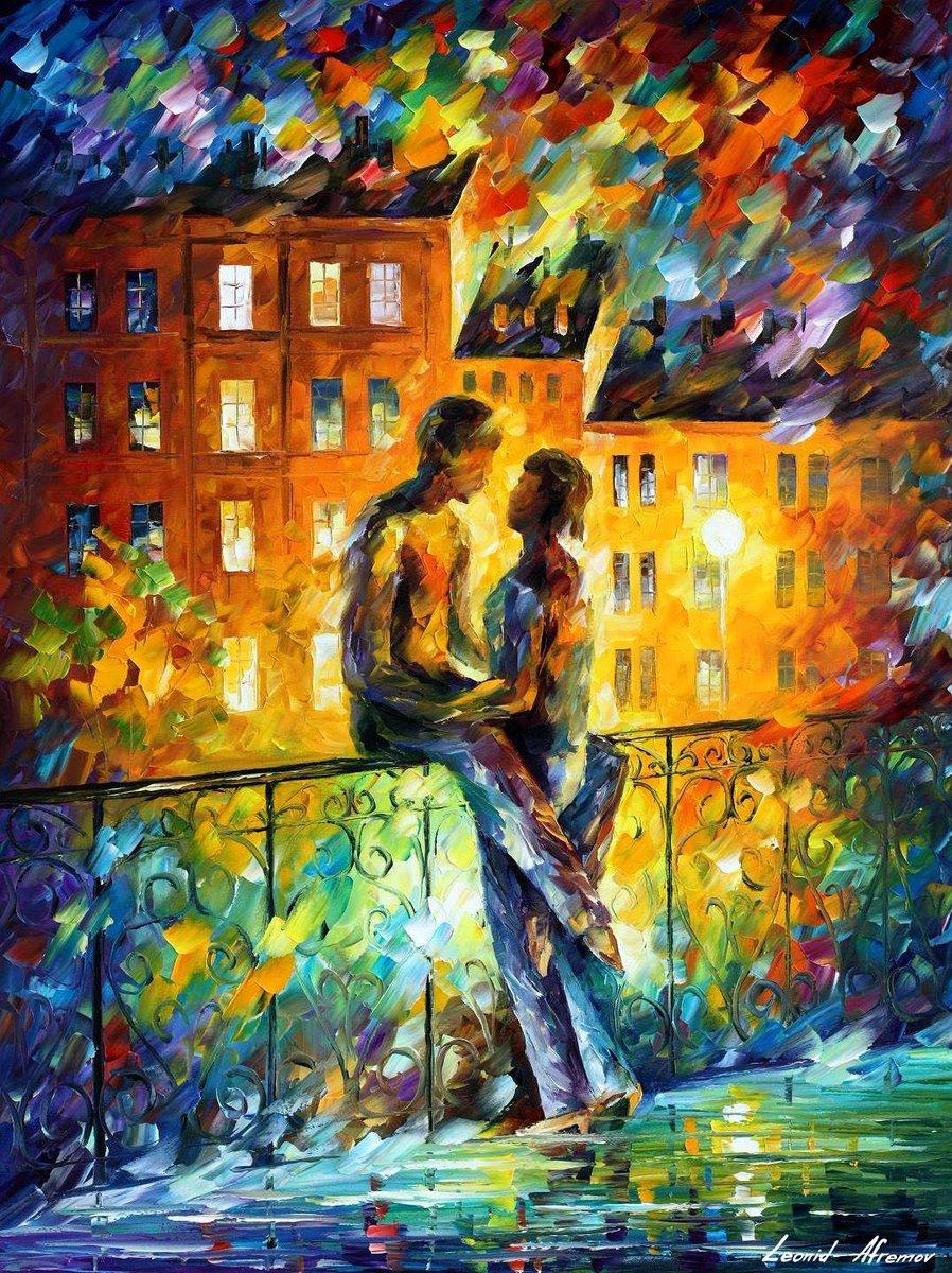Романтические картинки маслом