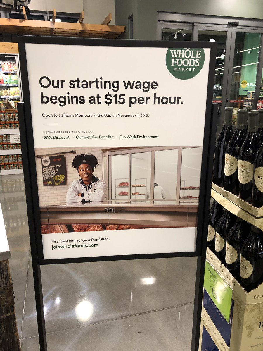 Recruitmentmarketing Irl Clean Design Clear Messaging Make This Wholefoods In Hiring Sign Effective Pic Twitter X432c0kq7r