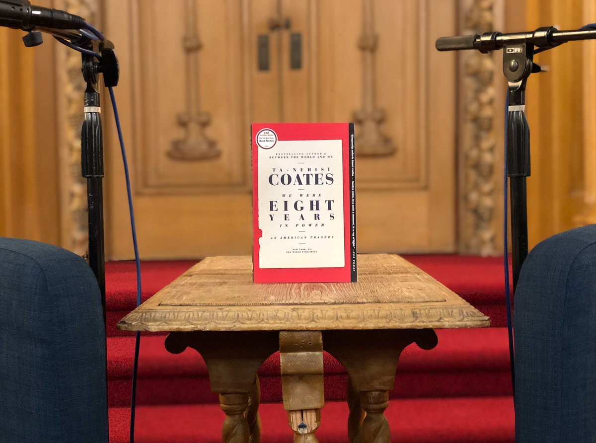 Were about to go live with Ta-Nehisi Coates & @chrislhayes here at @CBEBK! Thank you to our bookstore partner @CommunityBkstr and everyone who came out tonight. #BigIdeasNight