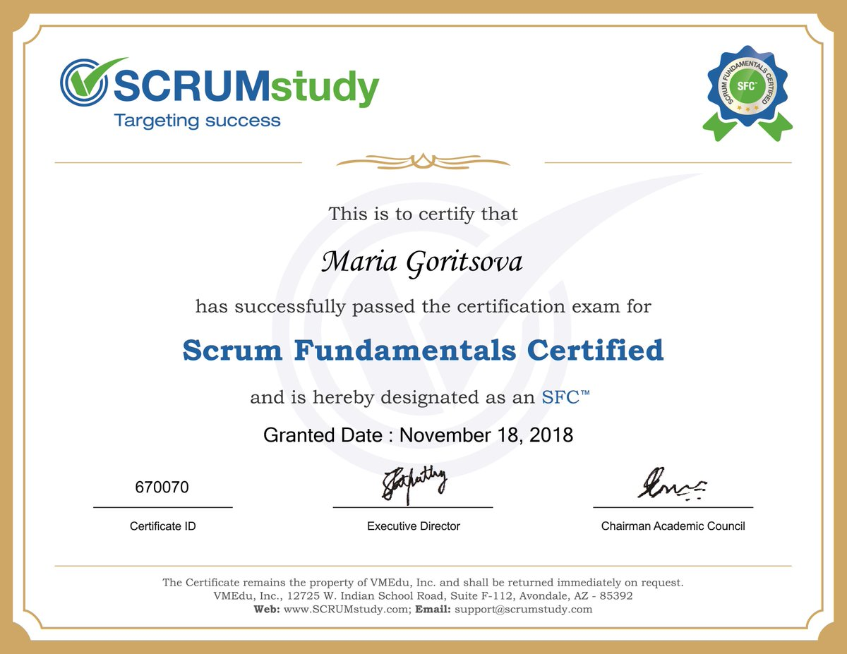 Scrumstudy On Twitter Congratulations Kamil Poland For Getting