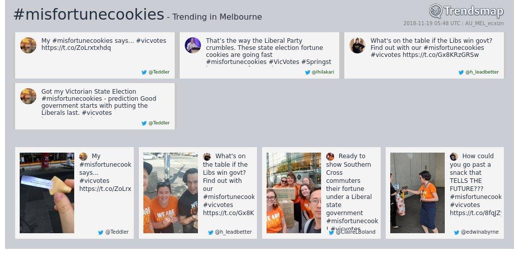 RT @TrendsMelbourne: #misfortunecookies is now trending in #Melbourne  https://t.co/EbTfUM58qG https://t.co/DiTMPswTHZ