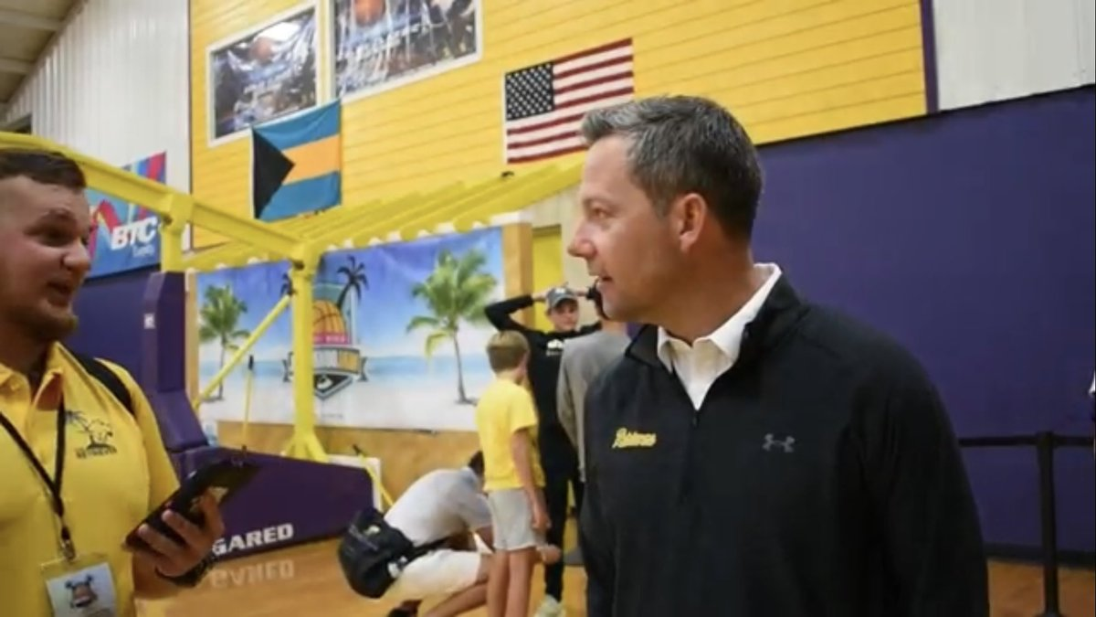 test Twitter Media - Coach Odom's postgame interview after a win against High Point on day two of the Bimini Jam.  https://t.co/wfNZyF4j5p https://t.co/OLLHjPPkXi