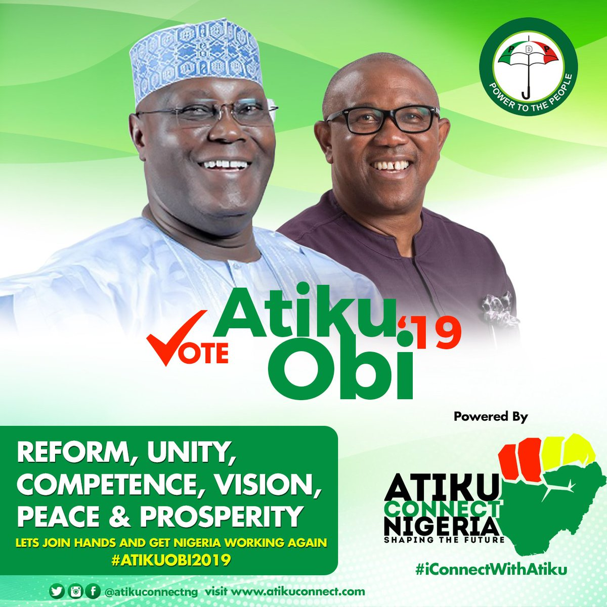 Don't be deceive by the #NextLevel Plan for failure by the APC! Atiku and Obi are the Only Solution to the hideous situations Nigeria is currently going through. Vote for Unity, Vote for Competence, Vision, Peace and Prosperity. Vote PDP! Vote Atiku-Obi come 2019! #AtikuConnect <br>http://pic.twitter.com/1GpFnevXUt