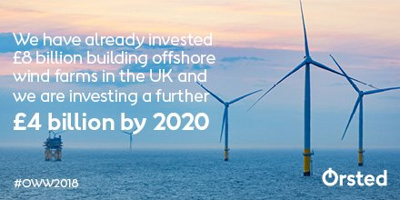 It's #OffshoreWindWeek (our favourite week of the year!) - and today's theme is #investment. The figures below are for Ørsted alone, but did you know with a Sector Deal, industry-wide investment in the UK could reach £48 billion by 2030! https://t.co/5ECDpWcgII