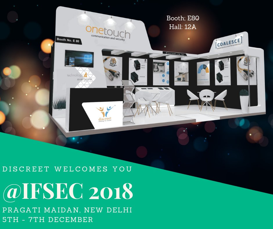 Discreet welcomes you at #IFSEC, #New Delhi #experiencethefutureof #videointercom #homeautomation #securitydevices #safety #realestate #developers #technologyforeveryone discreet.co.in