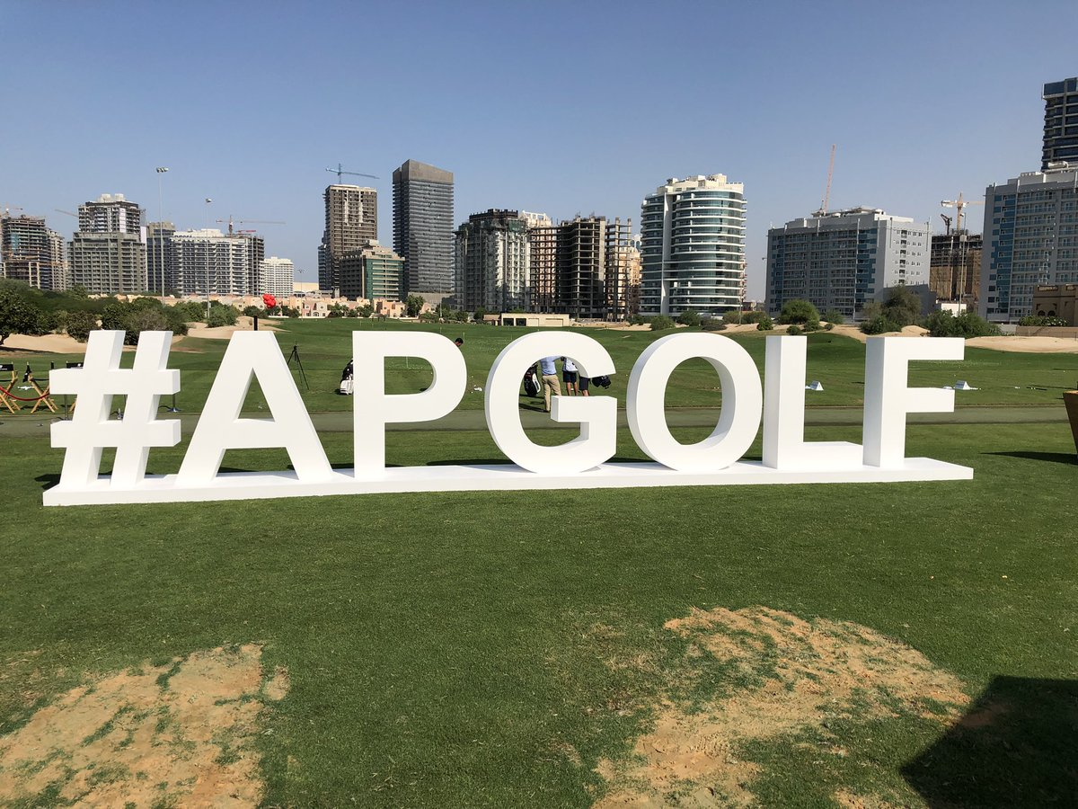 A fun day ahead with #APGolf #DreamTeam @elsclubdubai @AudemarsPiguet