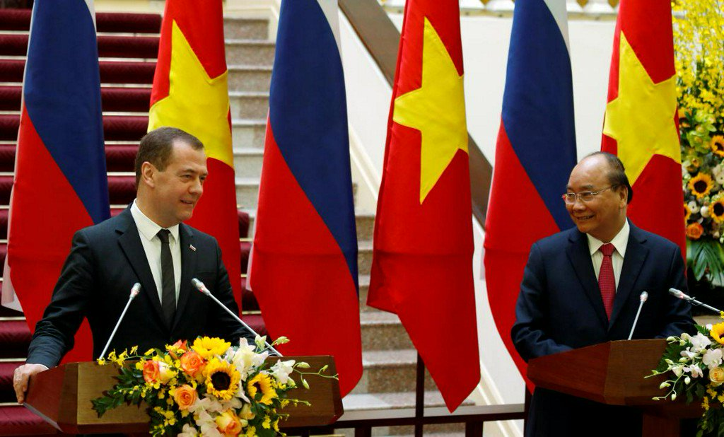 Vietnam, Russia aim to nearly triple trade to $10 billion by 2020 https://t.co/fM15CTc6Uw https://t.co/p7X9pAG2wF