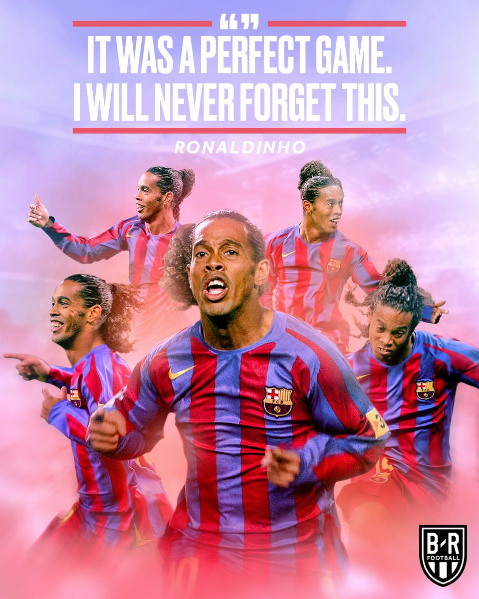 1️⃣3️⃣ years ago today, @10Ronaldinho received a standing ovation with Barcelona at the Bernabeu 😲