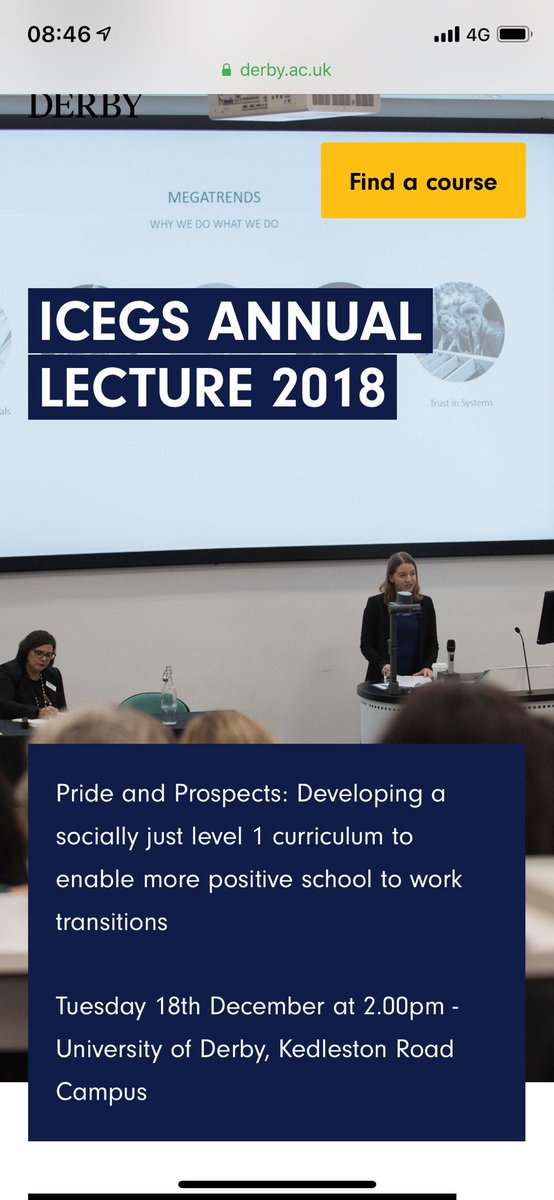 Looking forward to the International Centre for Education Guidance Studies (ICEGS) annual lecture on 18 December @DerbyUni #derby uni #ICEGS