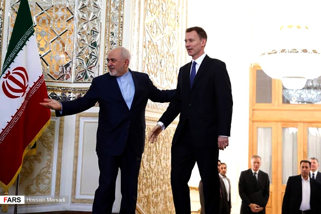 #Iran FM @JZarif and his UK counterpart @Jeremy_Hunt just held talks in Tehran at the Iranian foreign ministry