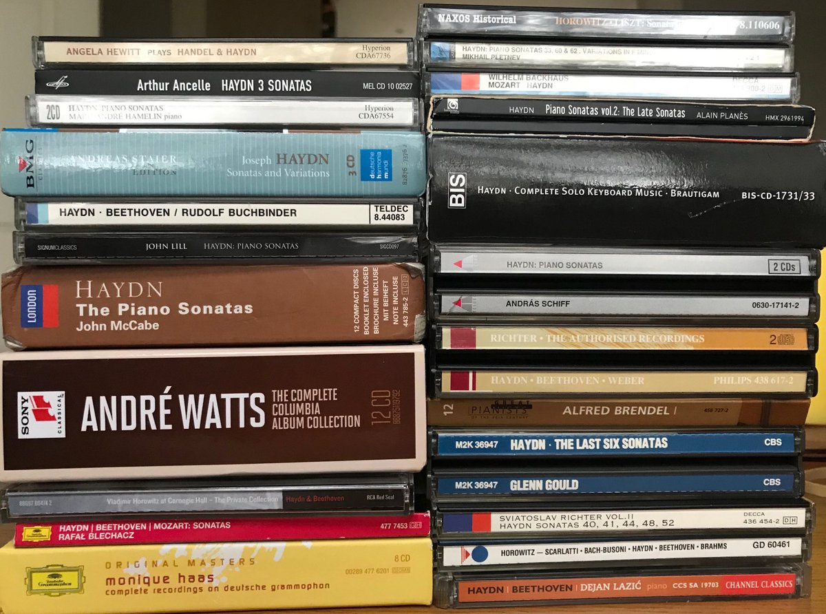 Haydn homework for @BBCRadio3 Record Review. Gotta build that library somehow. Lots of E flat joy.