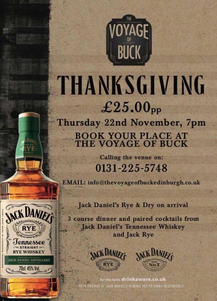 American in Edinburgh? Or fancy a new tradition 🇺🇸 🦃 🥃   Book your place! @TVOBedin   #hiddengems #takeacloserlook #thisisedinburgh #edinburgh #edinburghswestend #thanksgiving