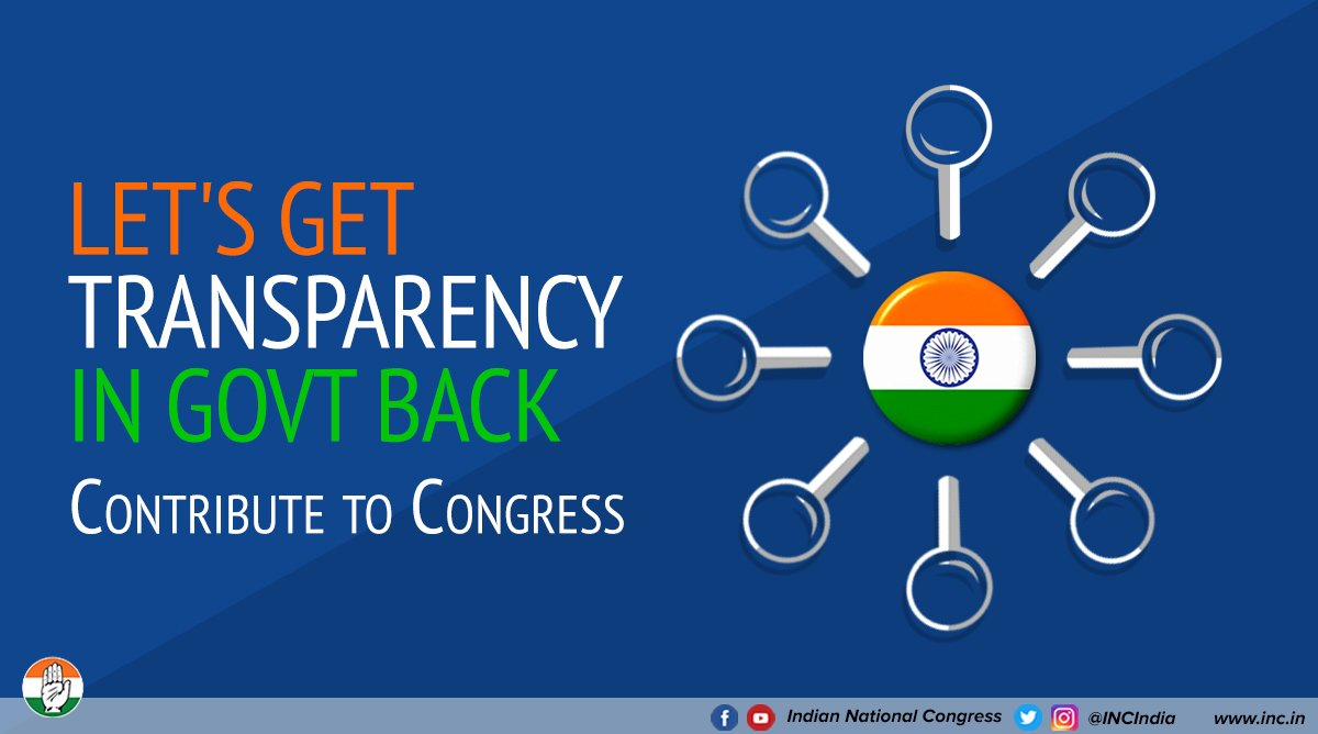 The integrity of our institutions has been diluted under the BJP.  From Judiciary to CBI, and from CAG to RBI. If you want to restore the independence of India's public institutions, support the Congress party by making a contribution here - https://t.co/PElu5RhXIE