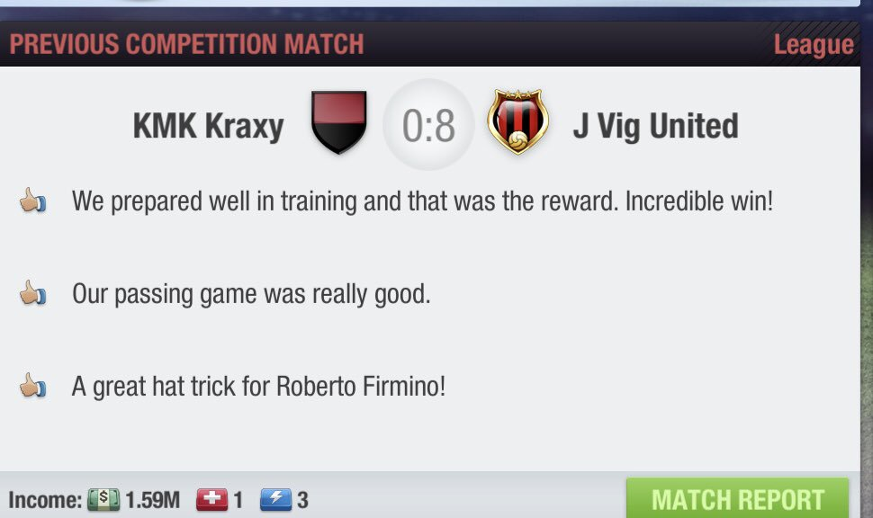 All I can say is complete destruction, Firmino scored a hat trick and we are now 2nd and will stay there for the rest of MD7. #UPTHEJVIG #JVIGUNITED