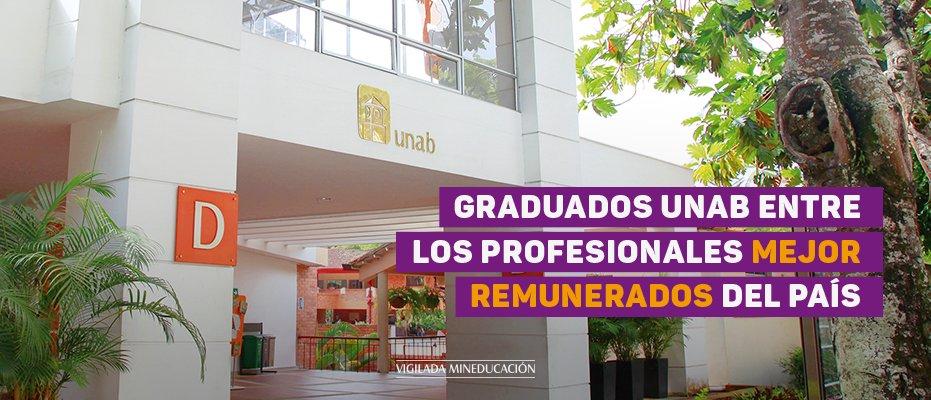 Graduados UNAB entre los profesionales mejor remunerados del país
