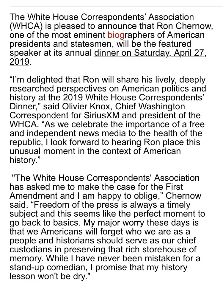 White House Correspondents Dinner 2019 Will Not Feature A Comedian