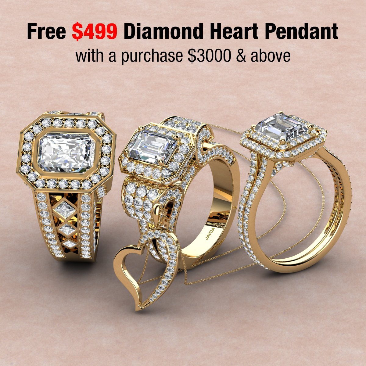 Javda Jewelry On Twitter Big Deals Limited Time Offer Free 499 Diamond Heart Pendant With Purchase Of 3000 And Above Also 36 Month Financing Available At Javda Visit Our Website On