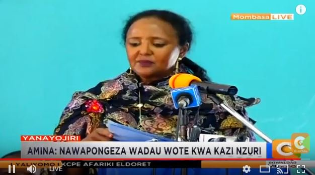 CS Amina Mohamed: A total of 1,052,364 candidates sat for the #KCPE2018 examinations- Of these 527,294 (50.1%) were boys, 525,070 (49.9%) were girls