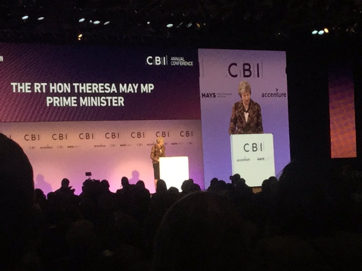 """PM and CBI are singing different songs. PM says nothing new about skills-based immigration system post-Brexit. CBI says current proposals """"won't work"""". PM talks of job creation and business investment despite uncertainty. CBI says jobs are being lost and investment drying up."""