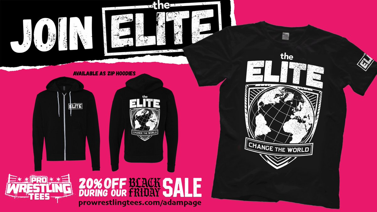 Stock up for Christmas, boys and girls. NEW official Elite shirt + others. prowrestlingtees.com/adampage