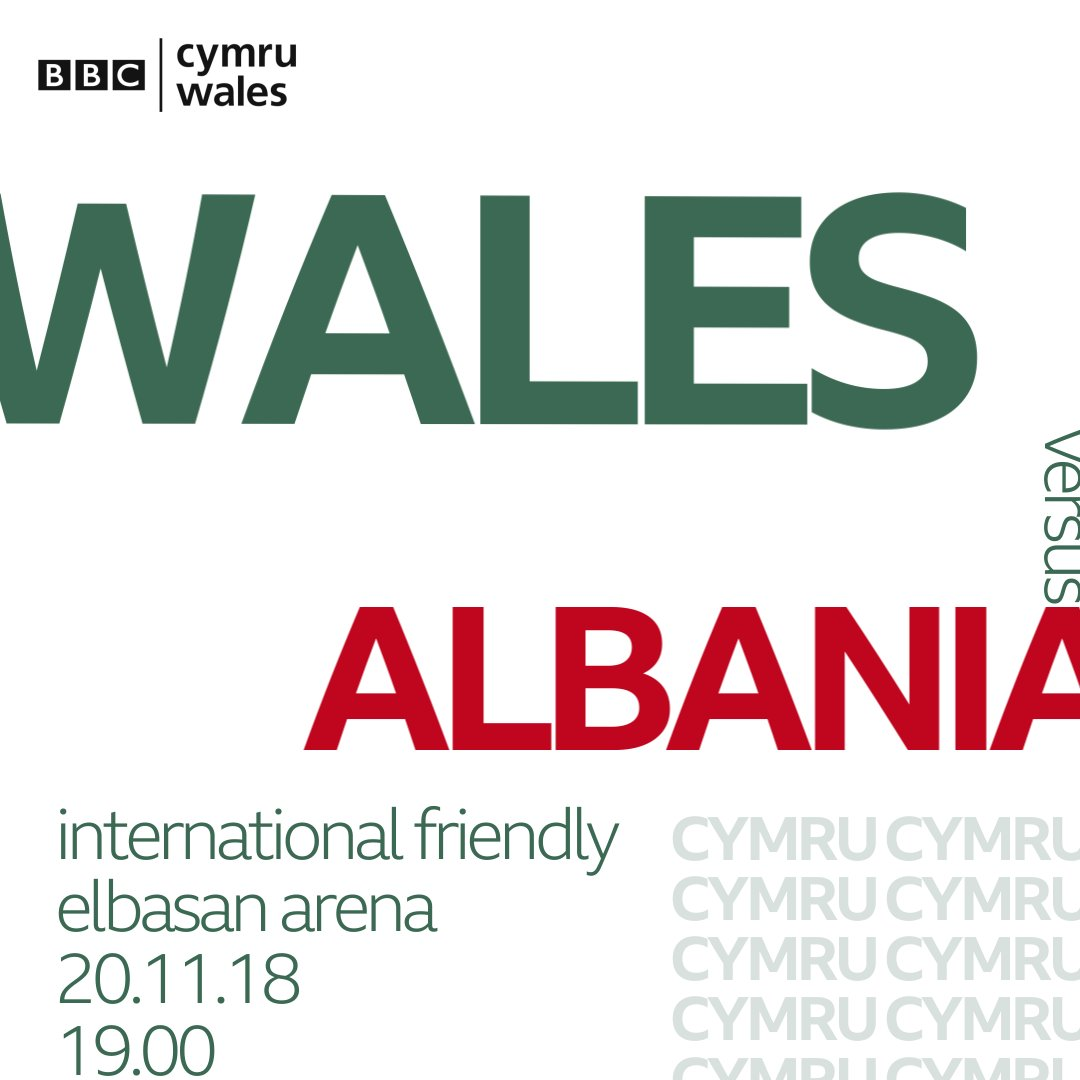 Wales face Albania in a friendly at the Elbasen Arena tomorrow  #ALBWAL  📺 Highlights on @BBCMOTD Wales, @BBCOne Wales, 10.40pm 📻 Live commentary on @BBCRadioWales and @BBCRadioCymru from 6.30pm ⚽️ KO 7pm