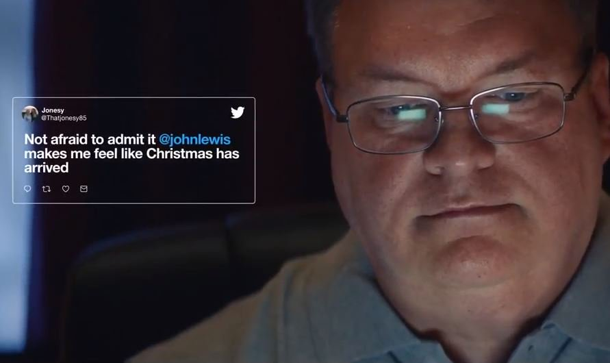 American man @johnlewis - who gets inundated with Tweets intended for @johnlewisretail - gets his own Christmas a#JohnLewisAddhttps://t.co/ZMWPG51Dwi