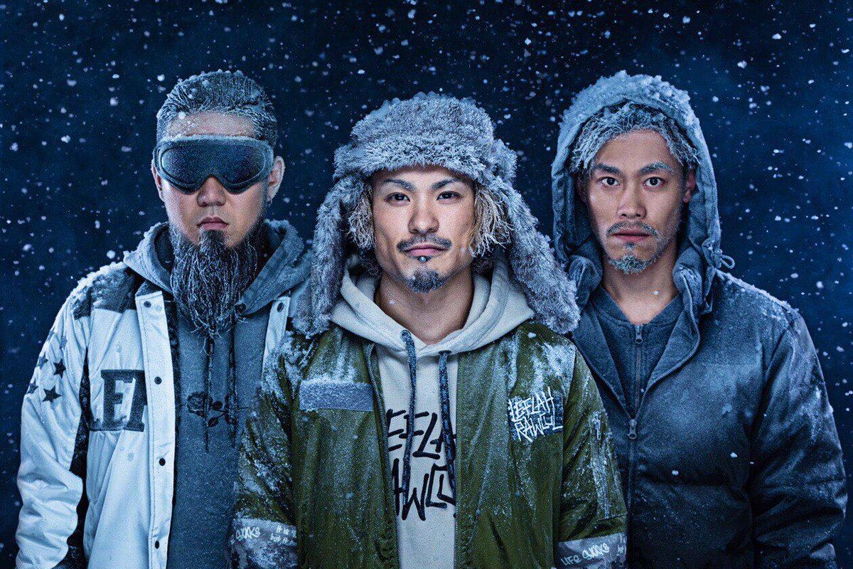 今日から1週間 北海道。3人の集合写真も冬仕様。「色んな意味で寒いですね」と撮影カメラマンさんが一言。風邪をひかないようにします。#WANIMA