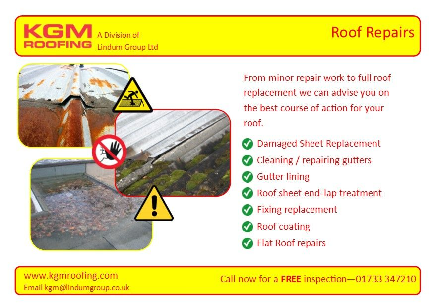 KGM Roofing On Twitter ROOF REPAIRS From Minor Repair Work To