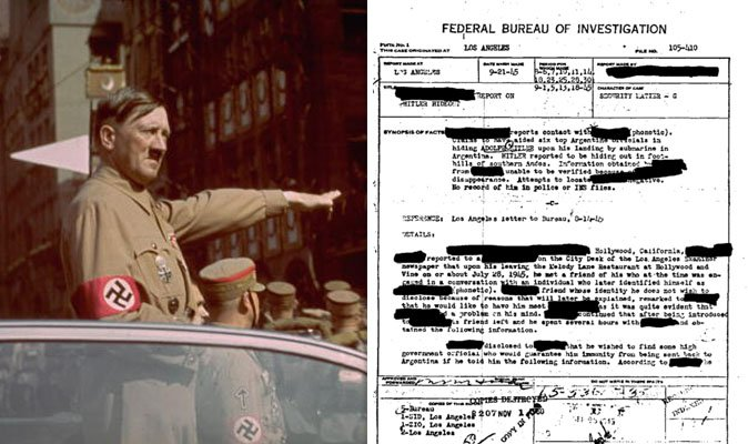 Adolf Hitler 'survived WW2 and LIVED in Argentina for 30 years' sparking FBI probe https://t.co/mZu3j51cLx