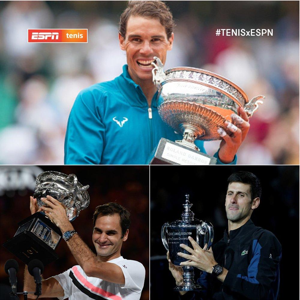 ¡Tres gigantes! ¡Por séptima vez #Nadal, #Federer y #Djokovic cierran el año en el podio del Ranking ATP. Los anteriores fueron: 2014 2011 2010 2009 2008 2007 #TENISxESPN